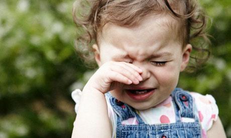 Toddler girl crying